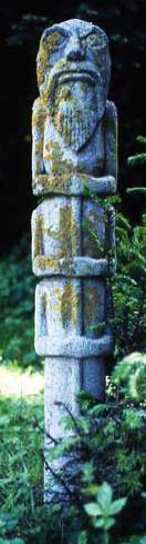 """Scultura creata da Jung e dedicata al suo """"demone interiore""""."""