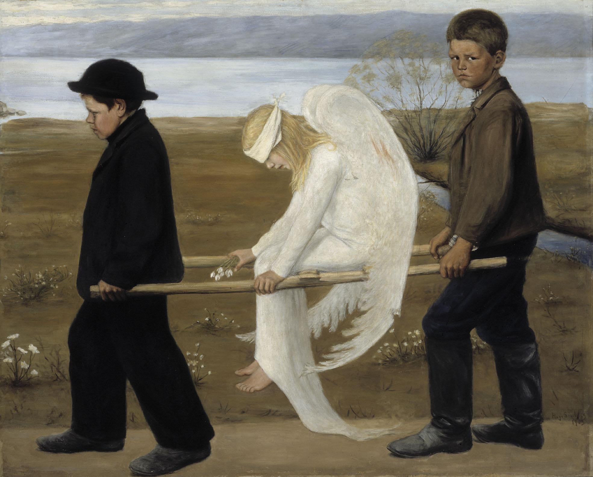 Hugo Simberg - L'angelo ferito, 1905-06