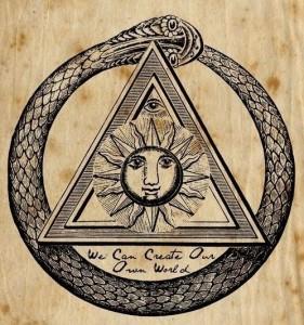 simbolo alchemico sole triangolo serpente