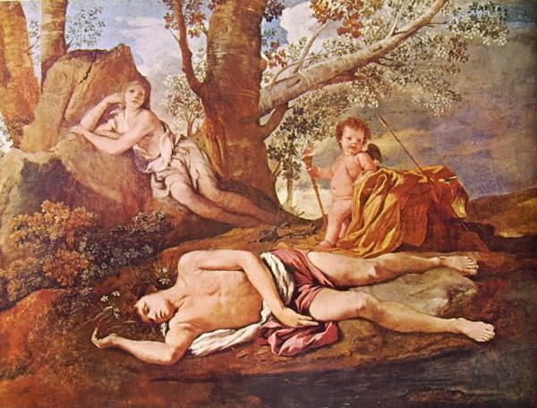 Poussin, Eco e Narciso
