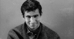 Anthony Perkins in Psycho, Hitchcock, 1960