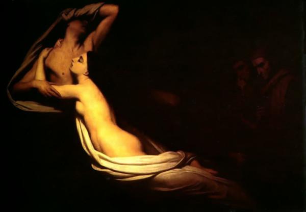 Scheffer, I fantasmi di Paolo e Francesca appaiono a Dante e a Virgilio, 1835