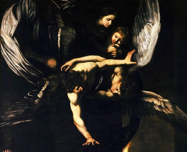 Caravaggio Madonna col Bambino e Angeli