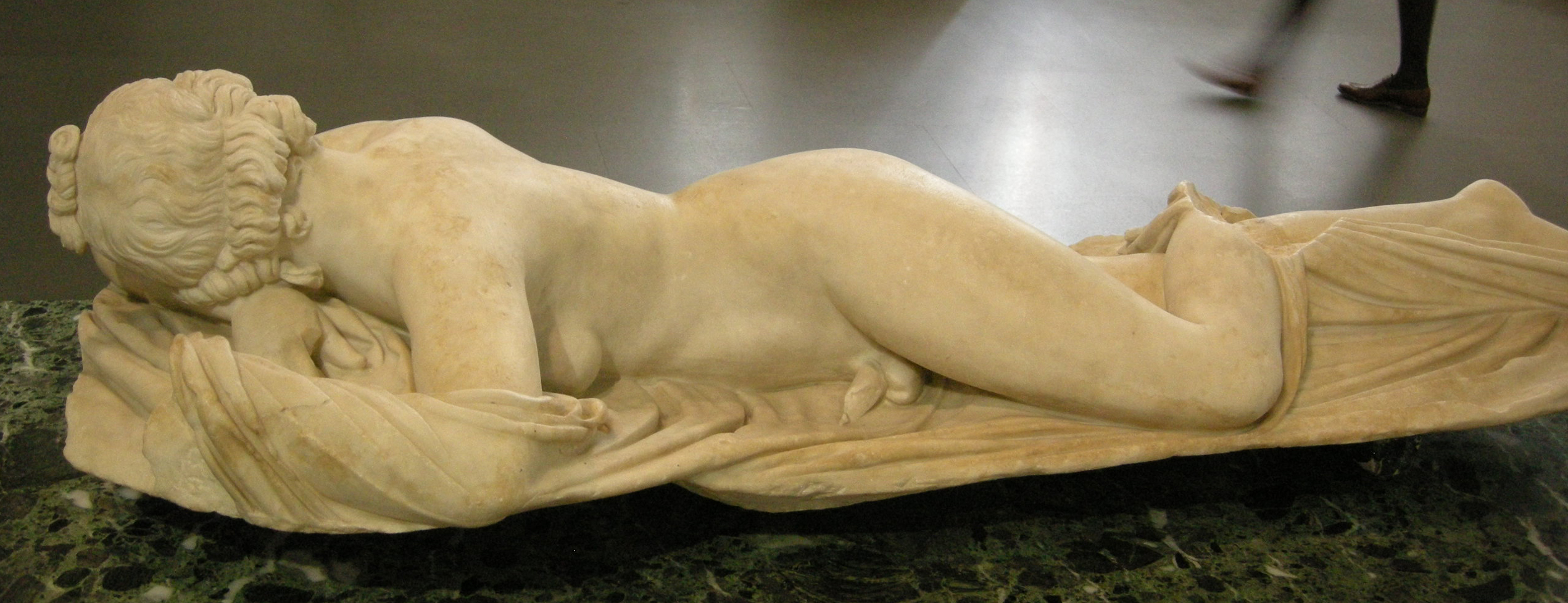 Ermafrodito (Figlio di Emes e Afrodite) - Museo nazionale romano - simbolismo della congiunzione degli opposti