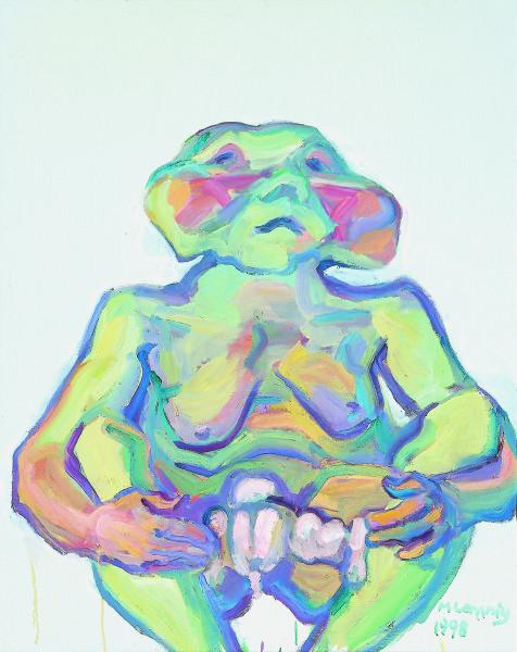 Maria Lassnig Illusion von der versäumten Mutterschaft [Illusione di mancata maternità], 1998