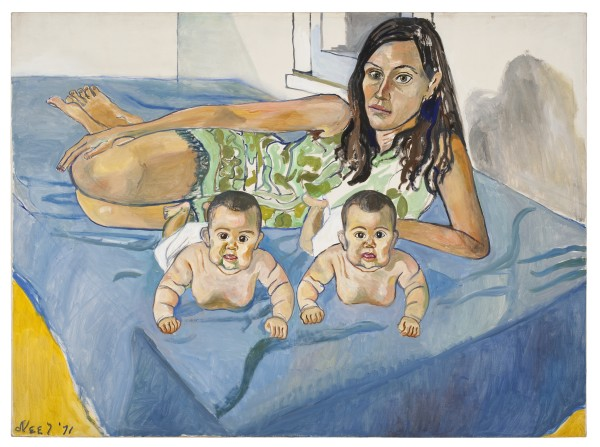 Alice Neel Nancy and the twins [Nancy e le gemelle], 1971