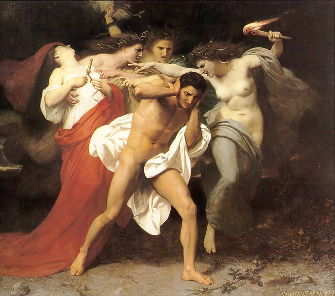William-Adolphe_BouguereauTheRemorse_of_Orestes_1862.