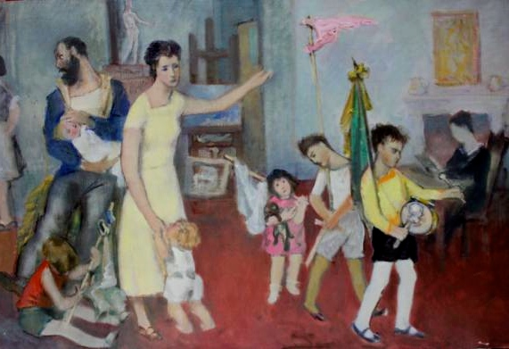 Aldo Carpi, 'La mia famiglia', 1928-29