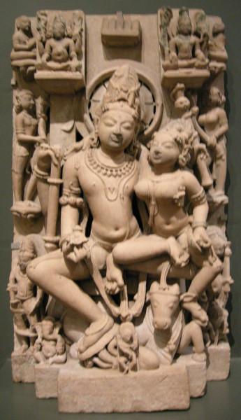 Arte indiana da uttar pradesh, famiglia di shiva, metà del X sec