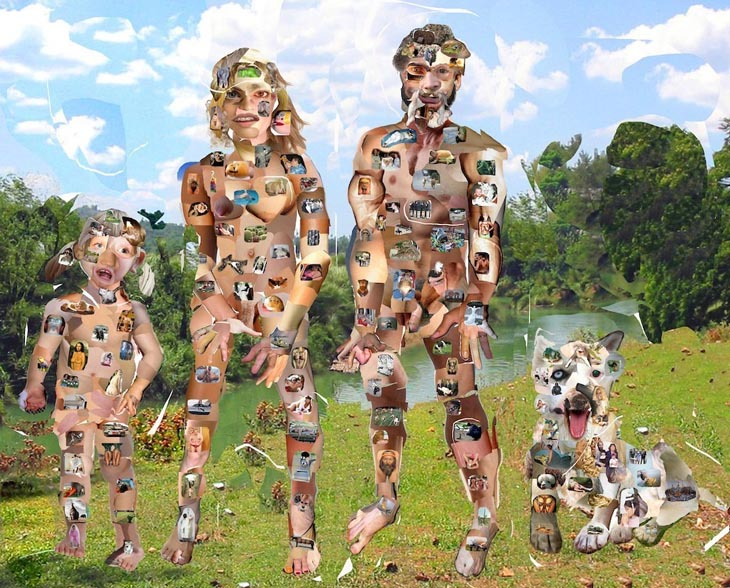 Olaf Breuning Collage Family, 2007