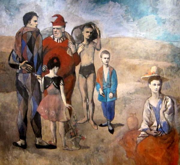Picasso, la famiglia dei saltimbanchi, 1905