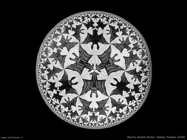 Escher, Inferno e paradiso, 1960