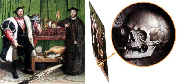 Holbein, Anamorfosi, Ambasciatori, 1533